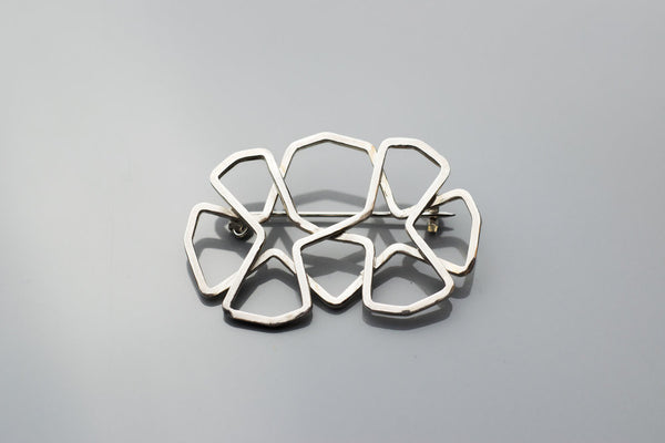 Double Octostar Brooch
