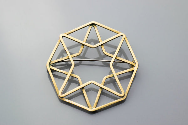Octagon Star Brooch