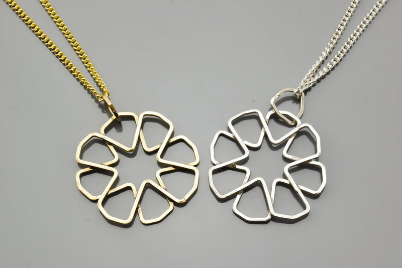 Skewed 8-Point Rosette Pendant (Small)