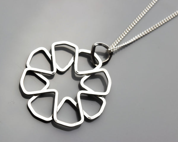 Skewed 8-Point Rosette Pendant