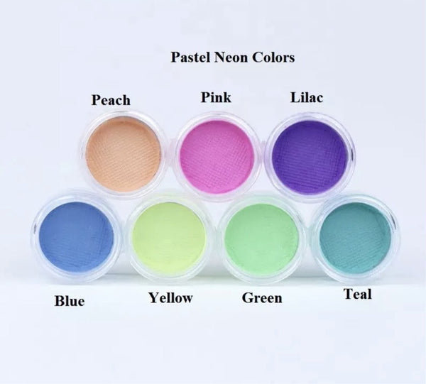 UV Neon Pastel Liner 7 Color Collection Water Activated