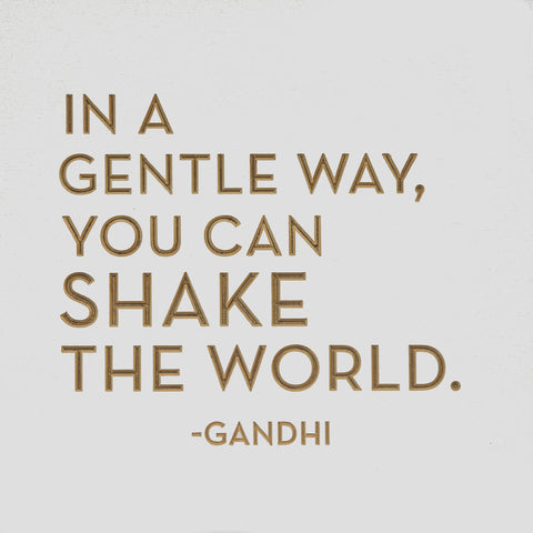 In a gentle way you can shake the world - Gandhi