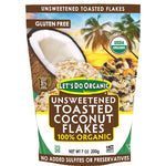 Let's Do Organic 100% Organic Unsweetened Toasted Coconut Flakes - Delidrop
