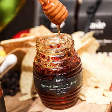 Spiced Honey with Pink Peppercorns