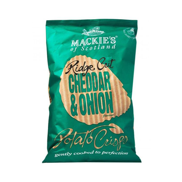 Mackie's of Scotland Ridge Cut Cheddar & Onion Crisps