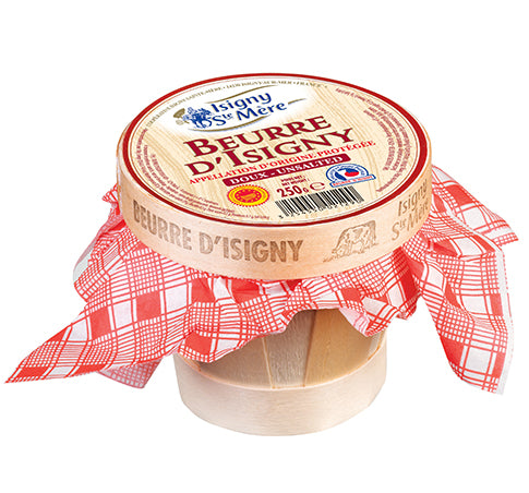 Isigny Ste Mere Unsalted Butter in Basket - Delidrop