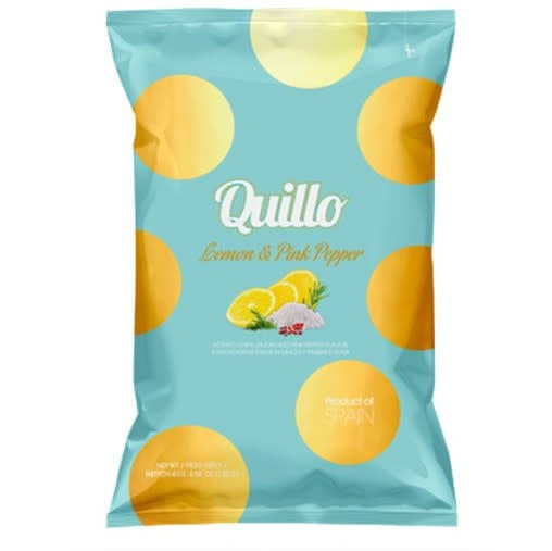 Quillo Potato Chips Lemon & Pink Pepper - Delidrop