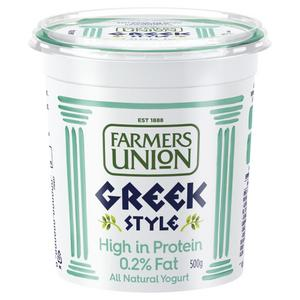 Farmers Union Greek Style High Protein 0% Fat Yogurt