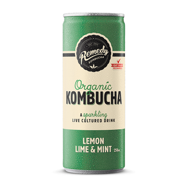 Remedy Organic Kombucha Lemon Lime & Mint