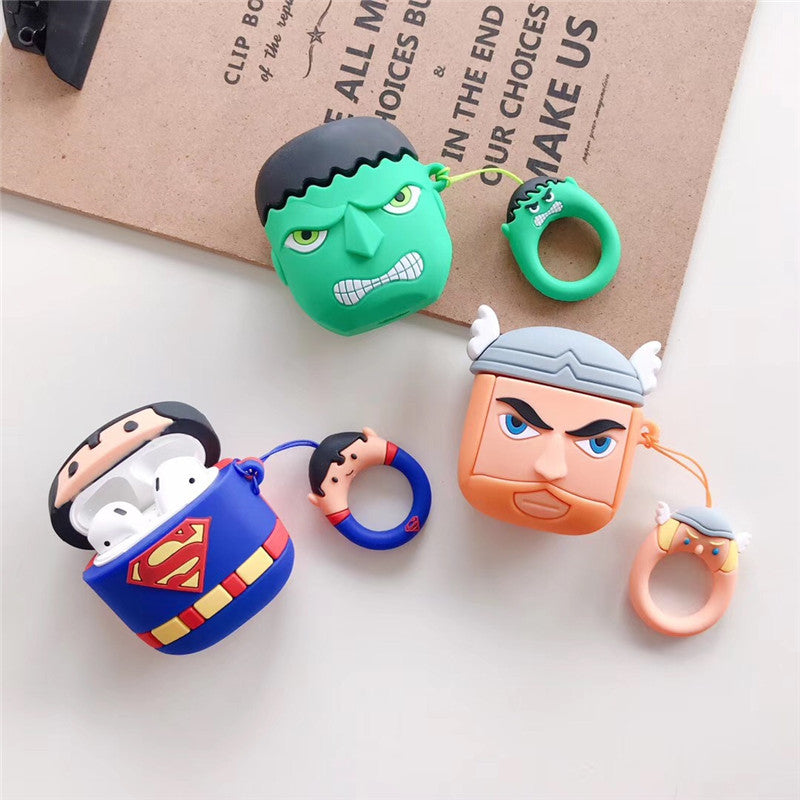 AirPods Cute 3D Cartoon Silicone Case cover For Airpod 1/2