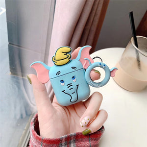 AirPods Cute 3D Cartoon Elephant Silicone Case cover For Airpod 1/2