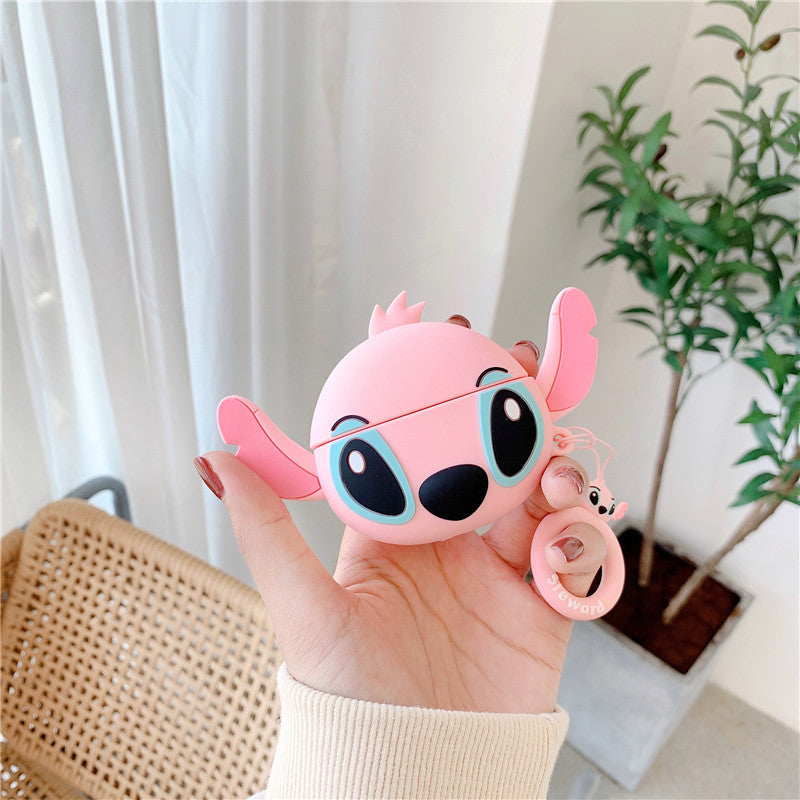 AirPods Pro Cute 3D Cartoon Stitch Silicone Case For Airpod 1 & 2 Protectuve Cover