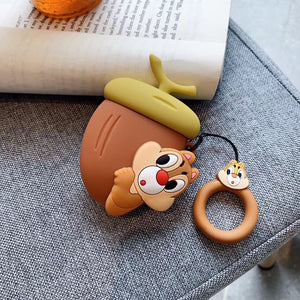 AirPods Cute 3D Cartoon Walnut Squirrel Silicone Case cover For Airpod 1/2