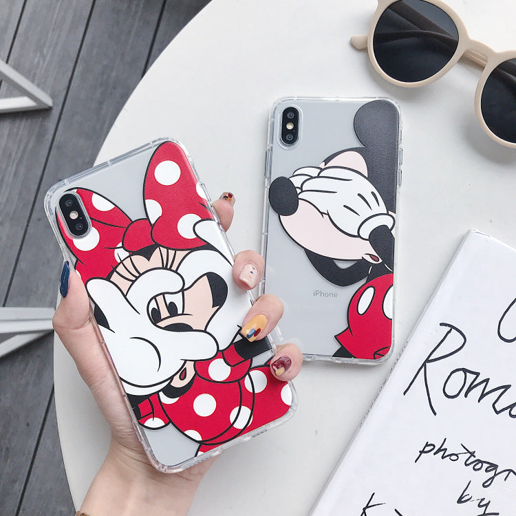 Cute Minnie Mickey Phone Case For Apple iPhone 11 Pro X XS Max XR Soft TPU Back Cover for iPhone 7 8 Plus Cute Lovely Clear Case