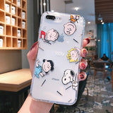 Cartoon Snoopy Charlie Phone Case For Apple iPhone 11 Pro X XS Max XR Soft TPU Back Cover for iPhone 7 8 Plus Cute Lovely Clear Case