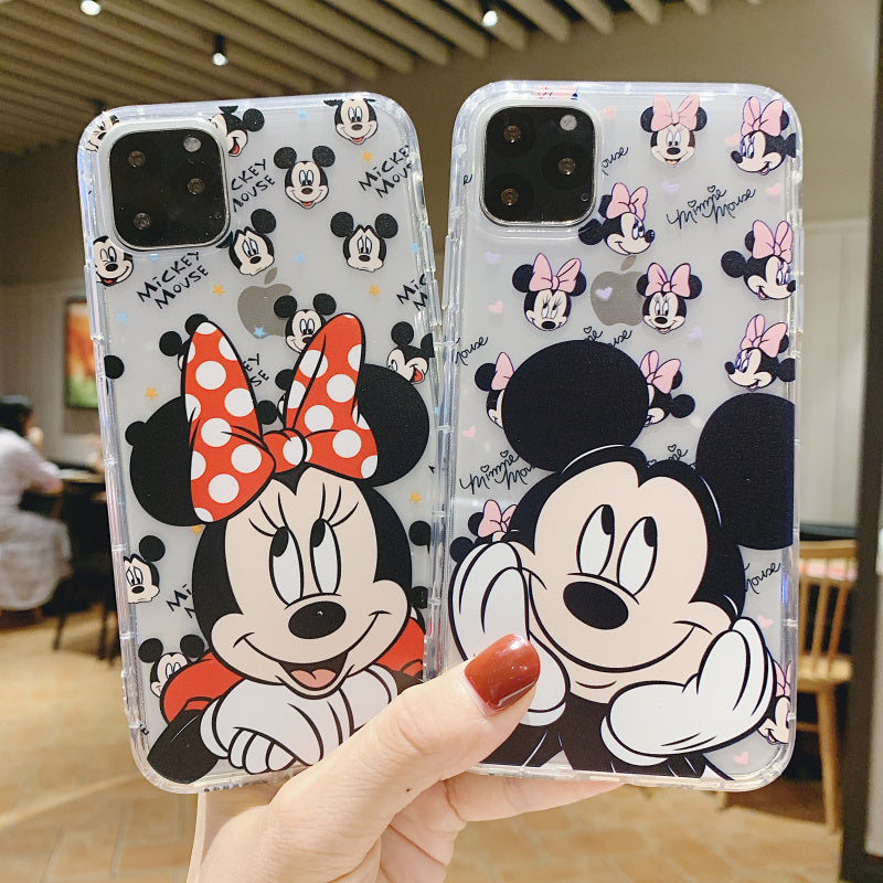 Funny Minnie Mickey Phone Case For Apple iPhone 11 Pro X XS Max XR Soft TPU Back Cover for iPhone 7 8 Plus Cute Lovely Clear Case