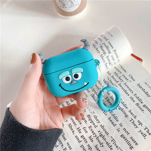 AirPods Cute 3D Cartoon Sulley& Mike Silicone Case cover For Airpod Pro