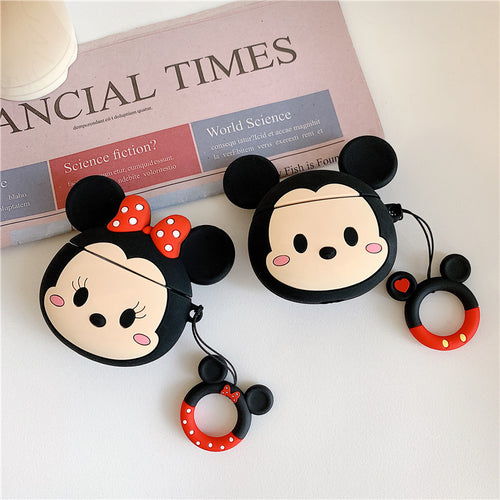 AirPods Pro Cute 3D Cartoon Mickey Minnie Silicone Case For Airpod 1 & 2 Protectuve Cover