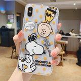 Cute Snoopy Charlie Phone Case For Apple iPhone 11 Pro X XS Max XR Soft TPU Back Cover for iPhone 7 8 Plus Cute Lovely Clear Case