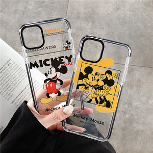 Minnie& Mickey Phone Case For Apple iPhone 11 Pro X XS Max XR Soft TPU Back Cover for iPhone 7 8 Plus Cute Lovely Clear Case