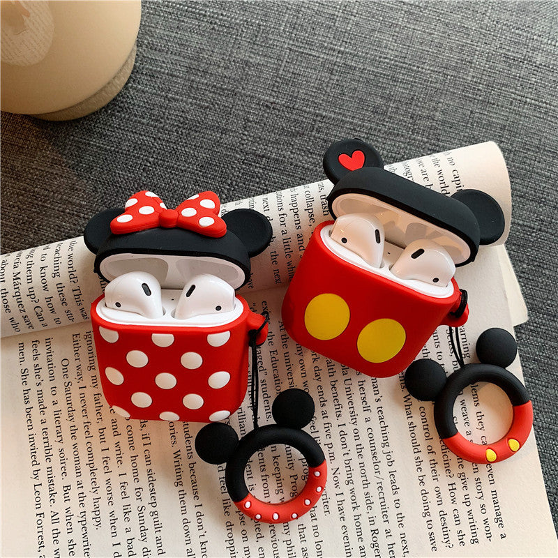 AirPods Cute 3D Cartoon Minnie& Mickey Silicone Case cover For Airpod 1/2
