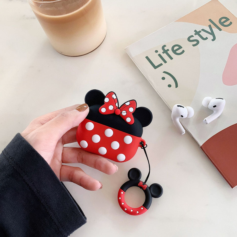 AirPods Cute 3D Cartoon Minnie& Mickey Silicone Case cover For Airpod Pro