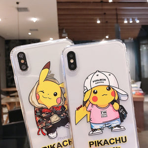 Cartoon Phone Case For Apple iPhone 11 Pro X XS Max XR Soft TPU Back Cover for iPhone 7 8 Plus Cute Lovely Clear Case