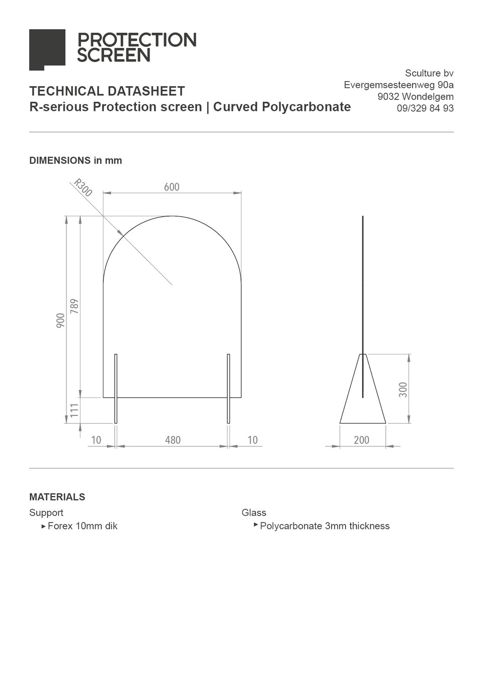 R-serious Protection Screen | Polycarbonate