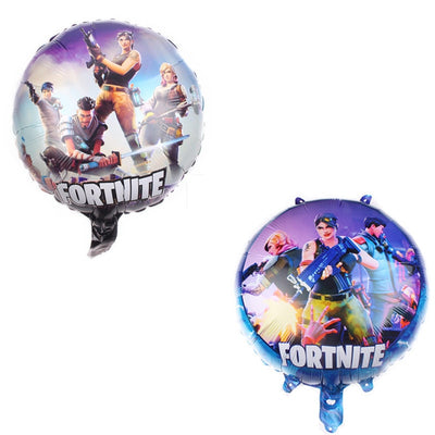 New Style 18-Inch Circle Aluminum Film Balloon Fortnite Balloon Children Birthday Party Decorative Balloon Wholesale