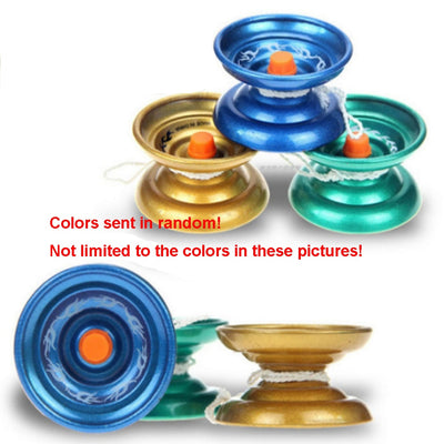 1pc Children Boys Yo-yo Professional Ball Bearing Alloy Yoyo Tricks Kids Gift Funny Toys Color Random