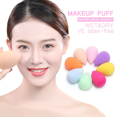 1pc New Multi Color Make Up Puff Beauty Latex-Free Blender Comestic Special Egg Shape Sponge Puff Dry&Wet Use Foundation Tools