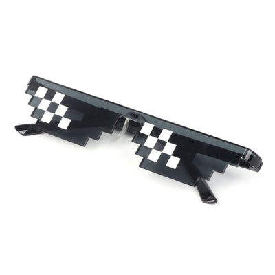 Mosaic Sunglasses Trick Toy Thug Life Glasses Deal With It Glasses Pixel Women Men Black Mosaic Sunglasses Funny toy