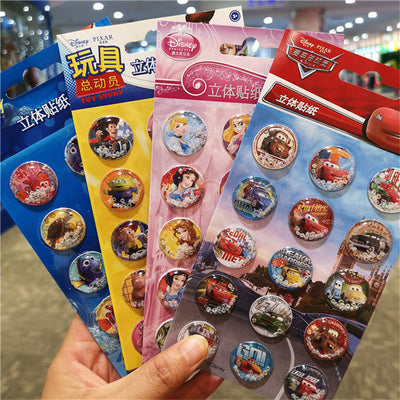 Disney blister shake stickers genuine children cartoon fun stickers boys and girls princess Buzz Lightyear car reward stickers