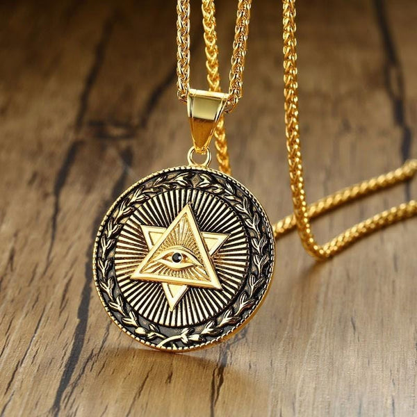 Illuminati Necklace - Gold
