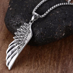 Wing Necklace - Silver