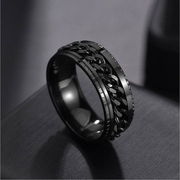 Spinner Ring - Black