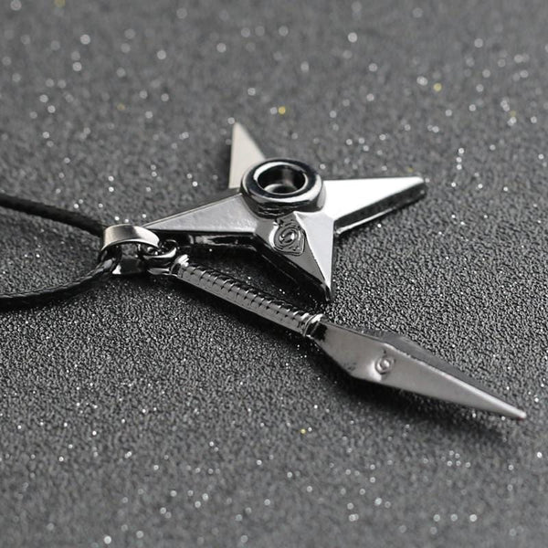 Shuriken Necklace - Black