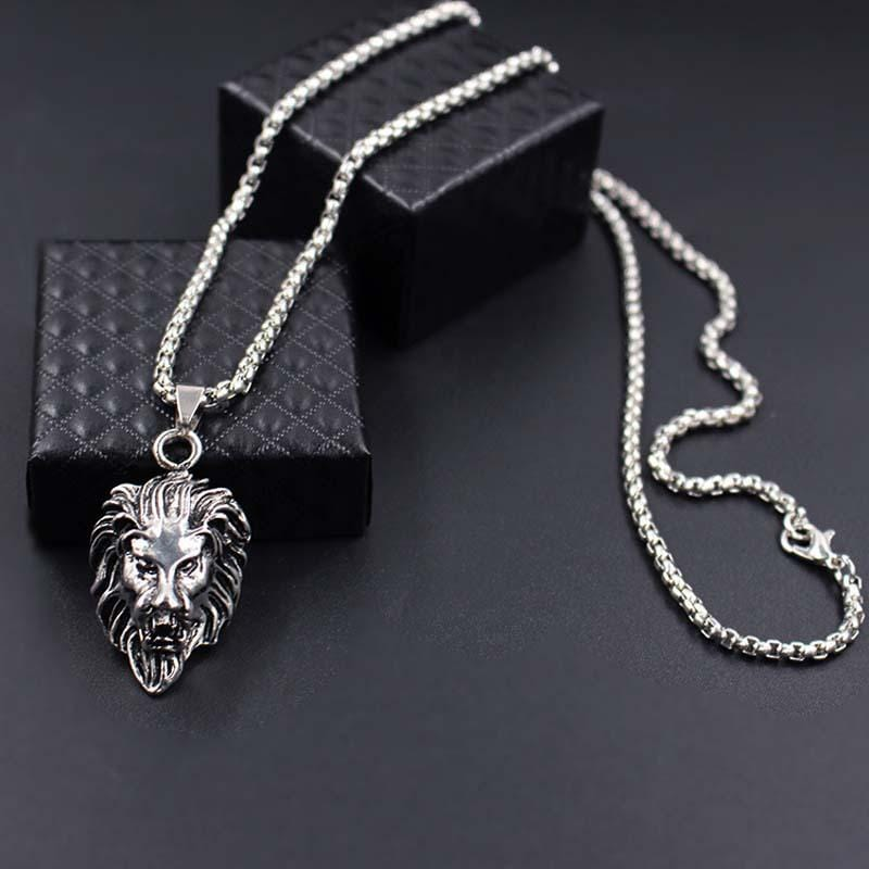 Lion Necklace - Silver