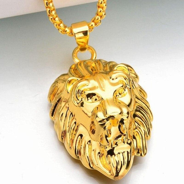 Lion Necklace - Gold