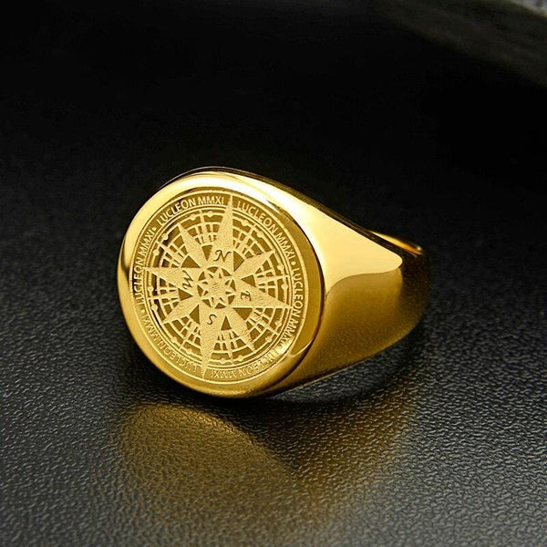 Compass Ring - Gold