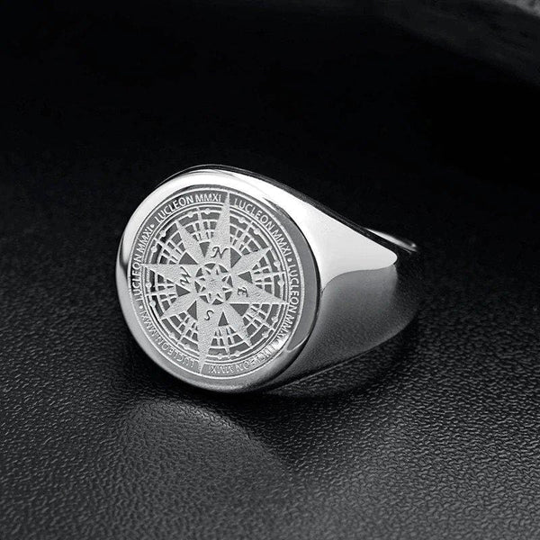 Compass Ring - Silver