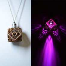 Load image into Gallery viewer, Cubo Love Pendant Necklace in Cherry Veneer