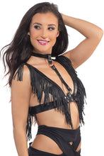 Load image into Gallery viewer, Star Rider Fringe Harness Top in Black