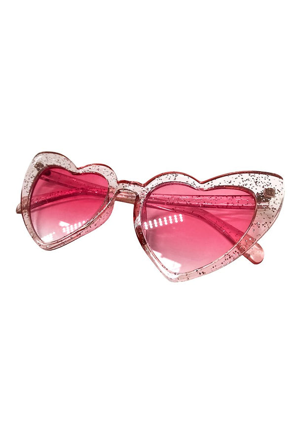 Heart Sunglasses in Birthday Cake, Accessories; Little Black Diamond