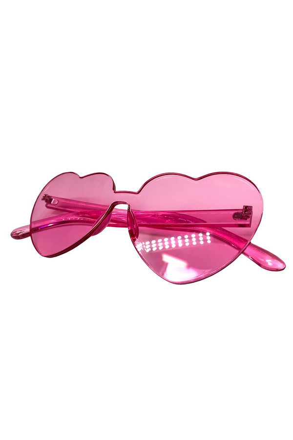 Rose Quartz Heart Sunnies, Accessories; Little Black Diamond