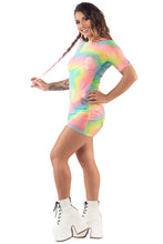 Load image into Gallery viewer, Rainbow Aura Tee Dress