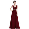 Elegant Formal Evening Dresses - Long Sleeveless V Neck