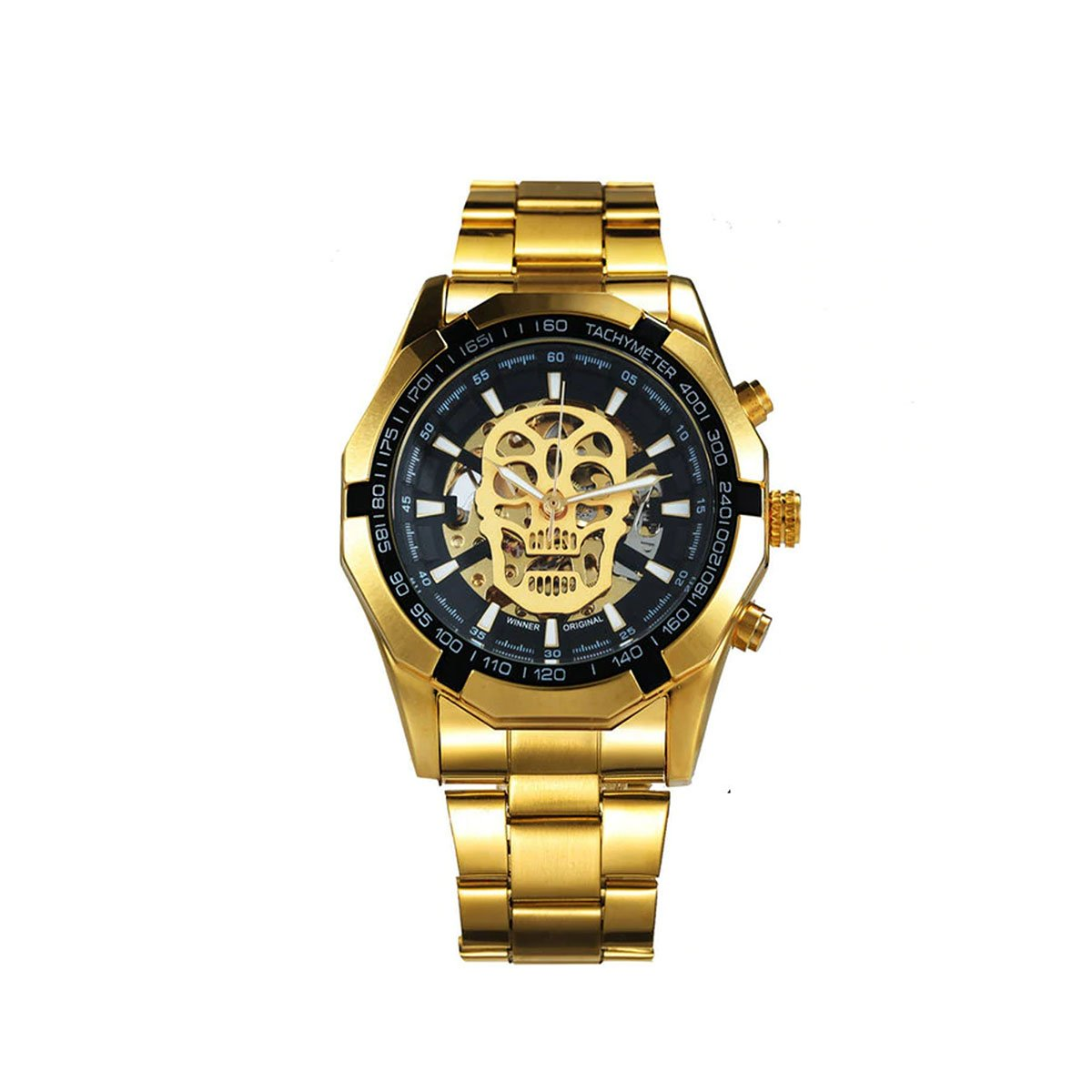 Men's Automatic Watch with a Creative Skull Design