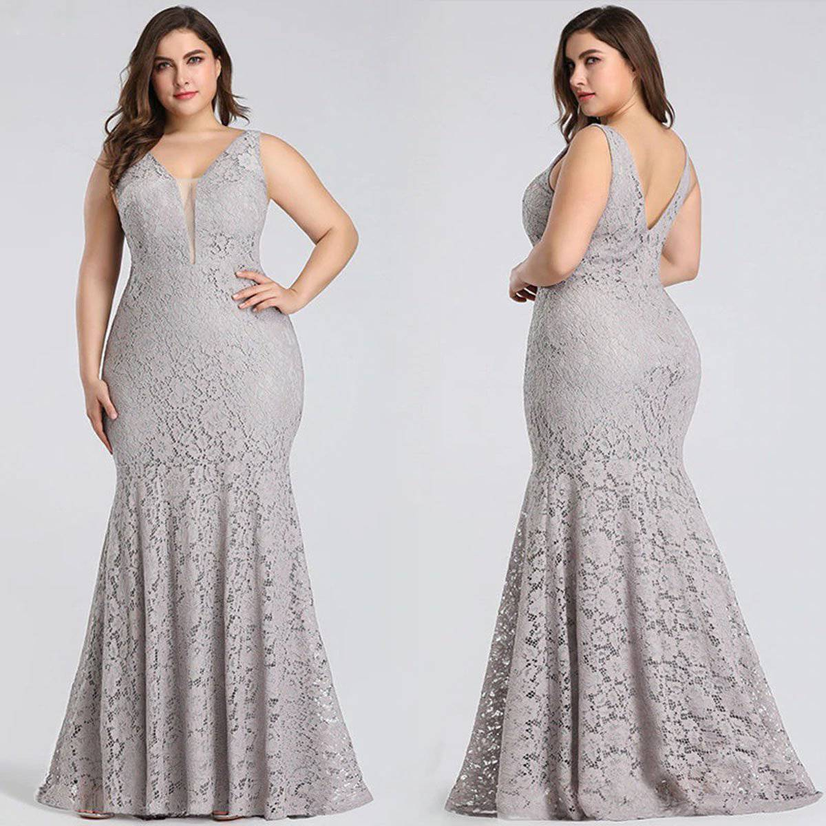 Ever Pretty Plus Size Long Party Gowns for Weddings & Proms