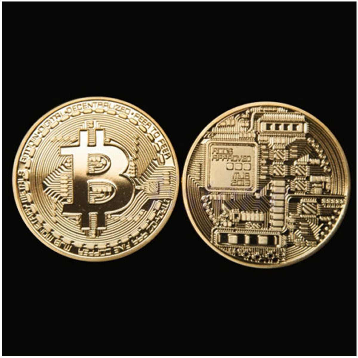 Gold-plated Iron-made Beautifully Designed 24k Casascius Bitcoins.